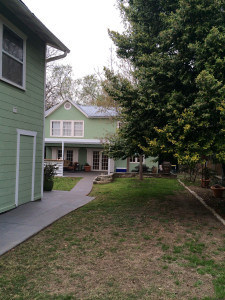 View of the house we rented for the Library Idea Drop House in 2014 & 2015.