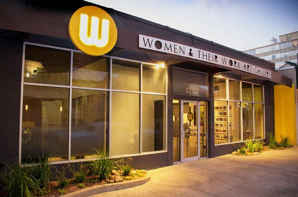 Front entrance of Women & Their Work Art Gallery