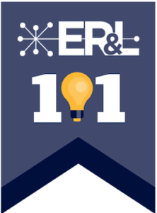 Decorative image depicting the ER&L logo and the word 101 made up with a lightbulb as the number 0