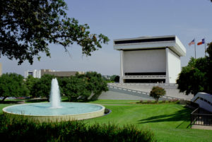 Fountain and Building - LBJ Library